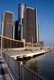 Horizonte de Detroit Imágenes de archivo libres de regalías
