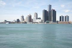 Horizonte de Detroit Fotografía de archivo libre de regalías