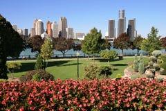 Horizonte de Detroit Imagen de archivo libre de regalías