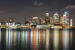 Horizonte de Detroit Foto de archivo libre de regalías