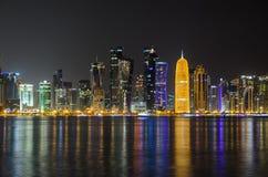 Horizonte de Doha, Qatar, Oriente Medio Fotografía de archivo libre de regalías