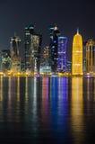 Horizonte de Doha, Qatar, Oriente Medio Imágenes de archivo libres de regalías