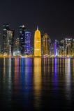 Horizonte de Doha, Qatar, Oriente Medio Imagen de archivo libre de regalías