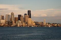 Horizonte de Dowtown Seattle Fotografía de archivo libre de regalías