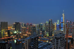 Horizonte de Dubai imagen de archivo