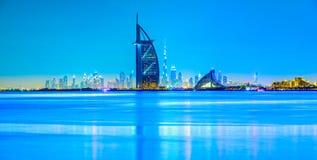 Horizonte de Dubai, Dubai, UAE foto de archivo