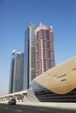 Horizonte de Dubai, UAE Fotos de archivo libres de regalías