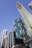 Horizonte de Dubai, UAE Imagenes de archivo