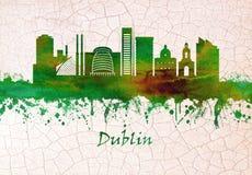 Horizonte de Dublín Irlanda ilustración del vector