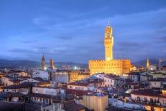 Horizonte de Florencia - Palazzo Vecchio, Italia Imagen de archivo libre de regalías