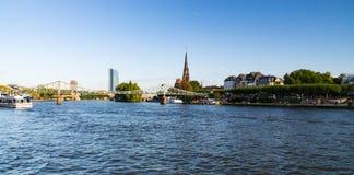 Horizonte de Frankfurt-am-Main Imagenes de archivo