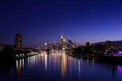 Horizonte de Frankfurt-am-Main Fotografía de archivo