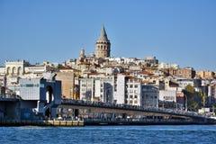 Horizonte de Galata en Estambul foto de archivo libre de regalías