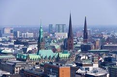 Horizonte de Hamburgo fotos de archivo