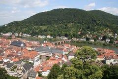 Horizonte de Heidelberg, Alemania Foto de archivo libre de regalías