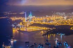 Horizonte de HK Foto de archivo