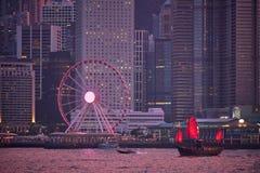 Horizonte de Hong-Kong Hong-Kong, China fotos de archivo libres de regalías