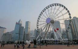 Horizonte de Hong Kong del habour imágenes de archivo libres de regalías