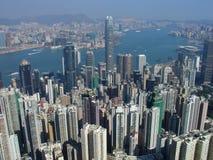 Horizonte de Hong-Kong del pico Fotos de archivo libres de regalías