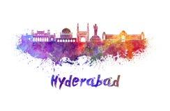 Horizonte de Hyderabad en acuarela libre illustration