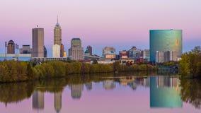 Horizonte de Indianapolis, Indiana, los E.E.U.U. almacen de video