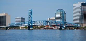 Horizonte de Jacksonville la Florida foto de archivo libre de regalías