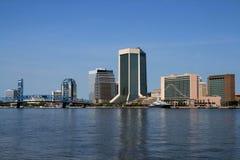 Horizonte de Jacksonville la Florida Imagen de archivo libre de regalías