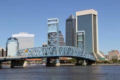 Horizonte de Jacksonville, la Florida Fotos de archivo