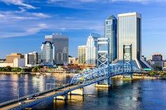 Horizonte de Jacksonville, la Florida Fotografía de archivo libre de regalías