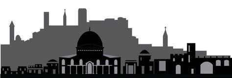 Horizonte de Jerusalén ilustración del vector