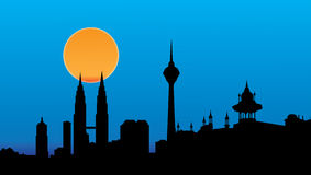 Horizonte de Kuala Lumpur Imagenes de archivo