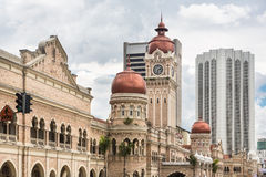 Horizonte de Kuala Lumpur alrededor del cuadrado de Merdeka Foto de archivo libre de regalías