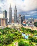 Horizonte de Kuala Lumpur, Malasia foto de archivo