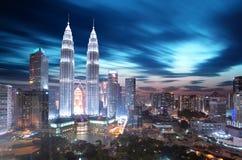 Horizonte de Kuala Lumpur, Malasia foto de archivo libre de regalías