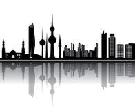 Horizonte de Kuwait Foto de archivo