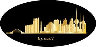 Horizonte de Kuwait stock de ilustración