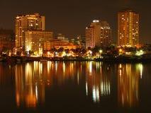Horizonte de la bahía de Manila Foto de archivo libre de regalías