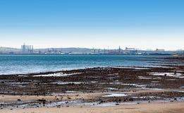 Horizonte de la bahía y de la ciudad de Belfast Foto de archivo