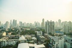 Horizonte de la ciudad de Bangkok Imagen de archivo