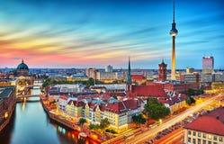 Horizonte de la ciudad de Berlín Imagen de archivo libre de regalías