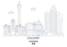 Horizonte de la ciudad de Calgary, Canadá libre illustration