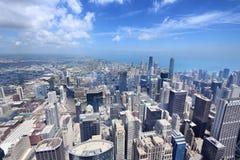 Horizonte de la ciudad de Chicago fotos de archivo