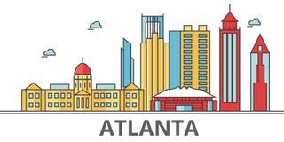 Horizonte de la ciudad de Atlanta libre illustration