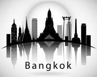 Horizonte de la ciudad de Bangkok Imagen de archivo libre de regalías