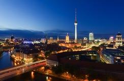 Horizonte de la ciudad de Berlín Foto de archivo libre de regalías