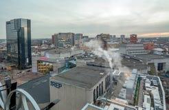 Horizonte de la ciudad de Birmingham Imagenes de archivo