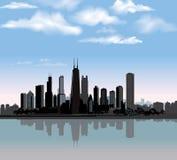 Horizonte de la ciudad de Chicago. Illinois, los E.E.U.U. ilustración del vector