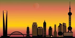 Horizonte de la ciudad de China de Shangai Fotografía de archivo