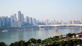 Horizonte de la ciudad de Chongqing Lapso de tiempo almacen de video