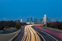 Horizonte de la ciudad de Dallas Foto de archivo libre de regalías